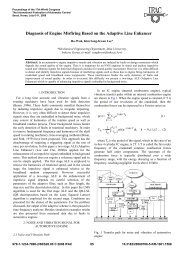 Diagnosis of Engine Misfiring Based on the Adaptive  Line Enhancer