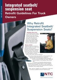 Integrated seatbelt/ suspension seat Retrofit Guidelines For Truck ...