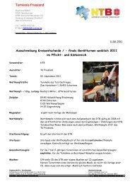 Ausschreibung Einzel 2011 - NTB
