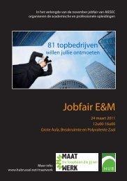 Jobfair 2011.indd - Hogeschool-Universiteit Brussel