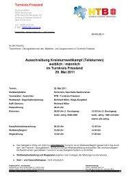 Ausschreibung Kreisturnwettkampf (Teileturnen) - NTB
