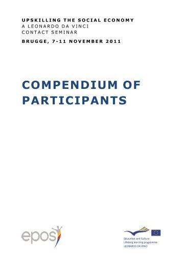 COMPENDIUM OF PARTICIPANTS - Epos