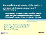 Research-Practitioner collaboration