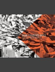 Download the annual report as a .pdf - Dean of Students Office ...