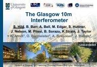 10m JIF prototype interferometer in Glasgow