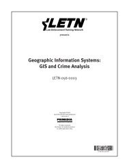 Geographic Information Systems: GIS and Crime Analysis