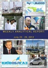 Weekly analytical report: July 23 - 29, 2012 - Українська енергетика ...