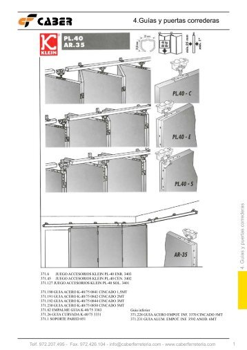 4.Guías y puertas correderas