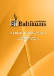 Finanšu rādītāji par 2010.gada 1.ceturksni - Baltikums