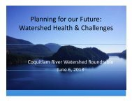 presentation - Coquitlam River Watershed