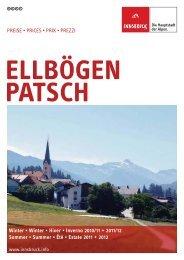 Preisliste Ellbögen-Patsch 2010