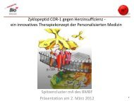 Zyklopeptid COR-1 gegen Herzinsuffizienz - ein ... - Der Cluster