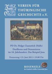 PD Dr. Holger Zaunstöck (Halle) - Verein für Thüringische ...