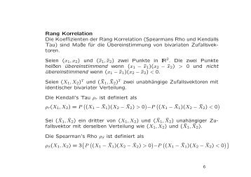 Rang Korrelation Die Koeffizienten der Rang Korrelation ...