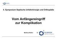 Buehler, Von Anfaengereingriff zur Komplikation - Septische Chirurgie