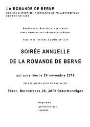 la romande de berne - Arb-cdb.ch