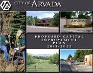 Proposed Capital Improvement Plan 2013-2022 - Arvada