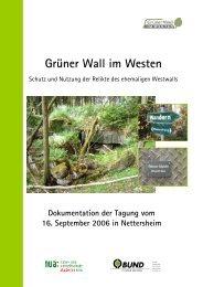 Grüner Wall im Westen