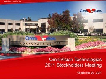 OmniVision Sept 2011 Stockholders Mtg - Final.pdf