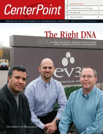 The Right DNA The Right DNA - Technological Leadership Institute ...