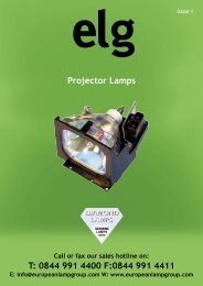 Projector A3 Lflt.indd - European Lamp Group