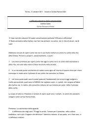 Relazione di Andrea Gatto - Caritas Torino