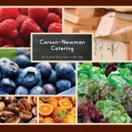 Carson-Newman Catering - CampusDish