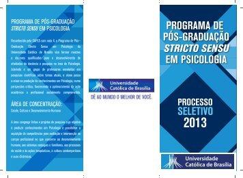 programa de pós-graduação em psicologia - Universidade Católica ...