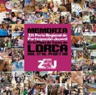 Memoria Zona Joven 2008 - Comunidad Autónoma de la Región de ...