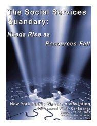 The Social Services Quandary: - New York Public Welfare Association