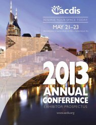 ACDIS can download the Exhibitor Prospectus - HCPro Blogs