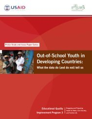 Out-of-School Youth in Developing Countries: What ... - EQUIP123.net