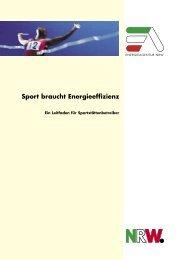 Platzhalter für eine Headline Sport braucht ... - NRW spart Energie