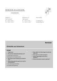 Einkünfte aus Solarstrom und ihre steuerliche Behandlung - Werner ...