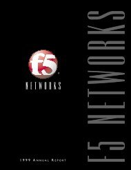 FY1999 Annual Report - F5 Networks