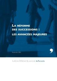 la réforme des successions - Lefèvre Pelletier & associés