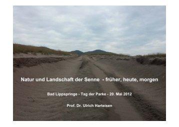 Natur und Landschaft der Senne - früher, heute, morgen