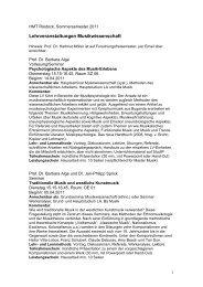 Kommentiertes Vorlesungsverzeichnis MusikWISSENSCHAFT SS ...