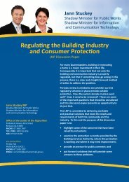 Discussion Paper - Jann Stuckey MP | Member for Currumbin