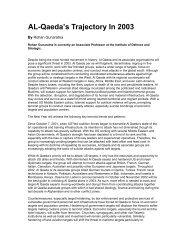 AL-Qaeda's Trajectory In 2003 - International Centre for Political ...