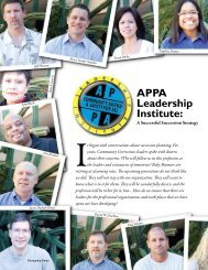 APPA Leadership Institute: - American Probation and Parole ...