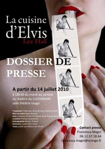 Dossier de presse CU.. - Le Lucernaire