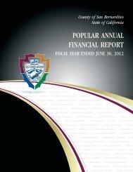 2011-2012 Popular Annual Financial Report - San Bernardino County