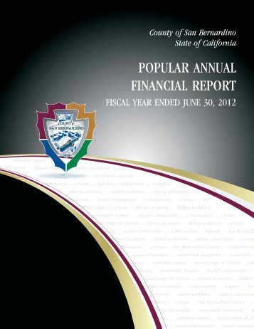 2011-2012 Popular Annual Financial Report - San Bernardino County