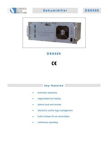 Dehumidifier DSH500 DSH500 - Cibred Sud