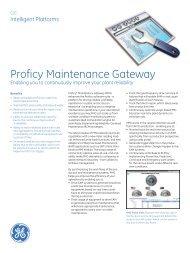 Proficy Maintenance Gateway - b+i automation