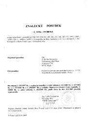 znalecký posudek - Exekutorský úřad Písek / JUDr. Stanislav Pazderka
