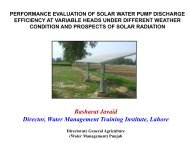 performance evaluation of solar water pump