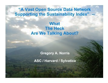 """""""A Vast Open Source Data Network Supporting the Sustainability ..."""