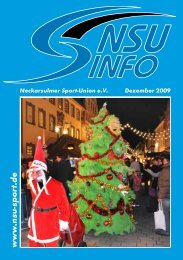 Jahresheft NSUinfo 2009 - Neckarsulmer Sport-Union eV